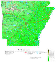 state of arkansas map arkansas contour map