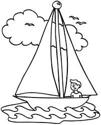 Boy Love Sailing Boat Coloring Pages Batch Coloring