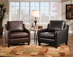 Black Accent Chairs For Living Room Black Or Brown Bonded Leather Modern Accent Chair