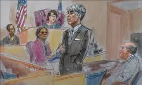sketches of court bus company found negligent in knockdown