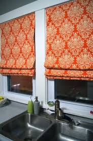 Kitchen Window Treatments Roman Shades - homemade no sew roman shades i u0027d change the colour scheme