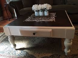 White Distressed Wood Coffee Table Beautifully Refinished Sklar Peppler Wood Coffee Table Painted In
