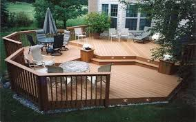 small backyard designs landscape with deck ideas for uneven yards
