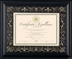 document frame florence black matted 11x8 14x11 document frame by dax intercraft