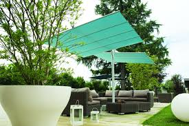Patio Umbrella Commercial Grade by Fim Flexy Twin Aluminum 8 U0027 X 17 U0027 Rectangular Offset Patio Umbrella