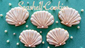 seashell shaped cookies how to decorate seashell cookies