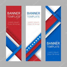 The America Flag Set Of Modern Vector Vertical Banners Page Headers In Colors Of