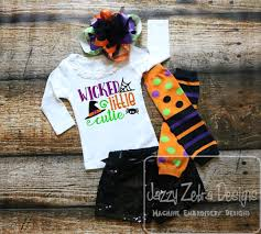 wicked little cutie saying halloween embroidery design halloween