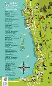 Three Sisters Springs Map Naramata Bench Wine Country Map Naramata Bench Winery Association