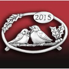 2015 and hammer annual bird sterling silver ornament