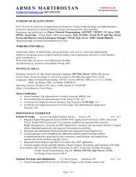 database engineer sample resume 12 oracle dba resumes for freshers