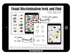 Visual Discrimination Worksheets Visual Discrimination Seek And Find Your Therapy Source