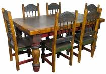 Mexican Dining Room Furniture Painted Country Style Mexican Dining Furniture