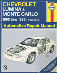 chevrolet lumina and monte carlo 95 98 automotive repair manual