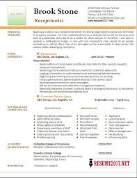 Sample Resume Receptionist by Receptionist Resumes Resume Pinterest Receptionist Medical And