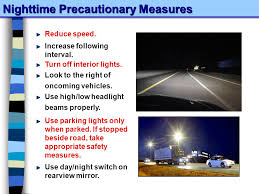 When To Use Parking Lights Section 5 Day 2 Driver Responsibility Adverse Conditions Ppt