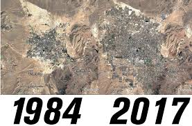 Google Maps Las Vegas Nv by Las Vegas Nv 1984 Vs 2017 Vegas