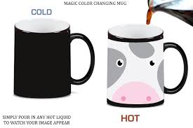Cute Cup Designs Amazon Com Moo Farm Cow Cute Face Magic Color Changing Ceramic