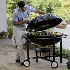 the 68 hamburger charcoal kettle grill hammacher schlemmer