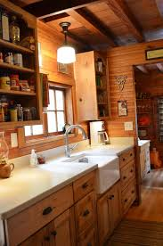 rustic cabin galley kitchen cultivate com log home ideas