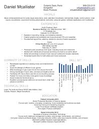 Production Resume Examples by Music Resume Resume Cv Cover Letter