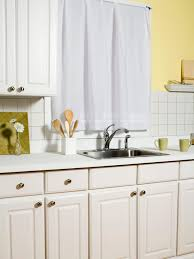 How To Reface Kitchen Cabinet Doors by How To Refinish Cabinets Like A Pro Hgtv