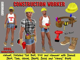 Construction Worker Costume Second Life Marketplace Construction Worker For