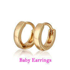 baby gold earrings two pairs baby earring cc hoop gold earrings kids jewelry boucle d