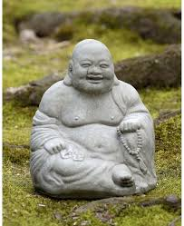 happy ho buddha garden statue cast