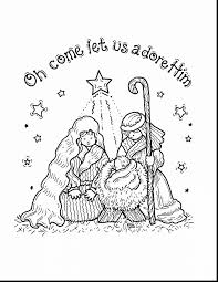 outstanding baby jesus nativity coloring pages with nativity scene