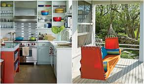 astonishing curved shape beachy brights kitchen featuring white