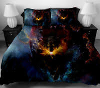 Space Bedding Twin Star Trek Schematic Duvet Cover And Pillow Cases Size Full Queen