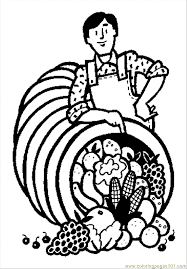 thanksgiving coloring pages 1 coloring free vegetables