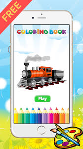 train coloring book kid vehicle drawing free game paint