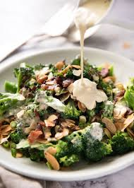 broccoli salad with sour cream dressing recipetin eats