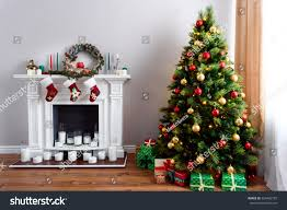 cozy traditional house decorations green stock photo