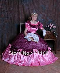 Halloween Costumes Southern Belle Dress Shirt Picture Detailed Picture Pink Satin