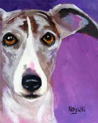 milly many coats a black greyhound painting dog your best