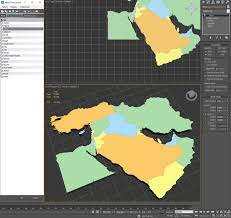 Map Of The Middle East by 3d Model Map Of The Middle East Cgtrader