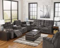 reclining sectional sofa with right side loveseat cup holders and
