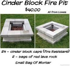 How To Build A Square Brick Fire Pit - cinder block fire pit using all the leftovers home pinterest