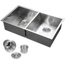 double bowl kitchen sink voilamart 30x 18in double bowl handmade stainless steel kitchen sink