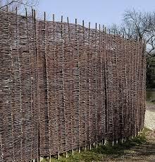 natural willow hurdles fencing screening panel morgan supplies