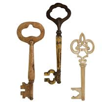 Key Home Decor by Home Decorators Collection Walter Wooden Wall Keys Set Of 3