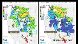 colorado snowpack map pineapple express delivers the goods for snowpacks in colorado