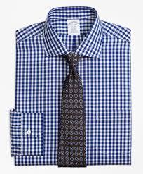 non iron regent fit gingham dress shirt brooks brothers