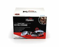 Non Stick Cookware For Induction Cooktops Kuuma 7 Piece Ceramic Nesting Cookware Set Stainless Steel W Non