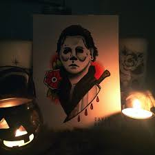 traditional michael myers tattoo