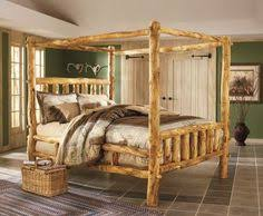 beautiful bed made from juniper i am in love log beds