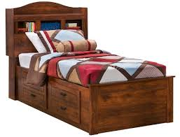 Twin Captains Bed With Drawers Slumberland Barchan Collection Twin Bookcase Captains Bed